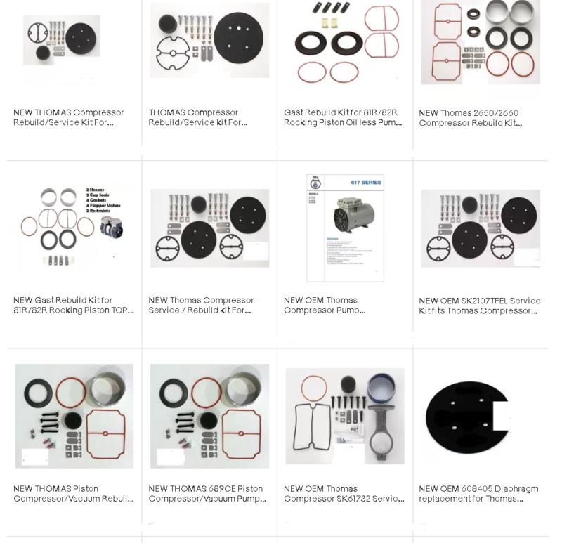 Thomas-Rebuild-Kits - Thomas Compressor
